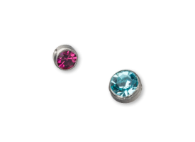 Steel Jewelled Clip in Disc