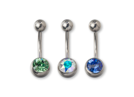 Titanium Jewelled Navel Barbell