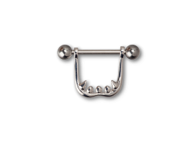 Steel and Silver Vampire Nipple Stirrups