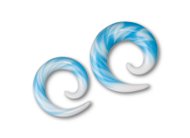 Pyrex Sky Blue and White Spiral