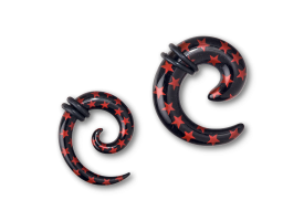Acrylic Red Star Spiral