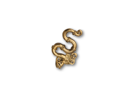 Polished Bronze Ear Weight - style 5