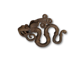 Traditional Bronze Ear Weight - Large Dragon