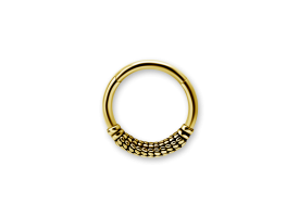 PVD Gold Steel Ethnic Hinged Ring - Style 5