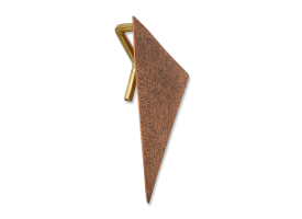 Bronze Triangle with Brass 3 mm Hook