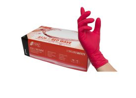 Nitras Red Nitrile Gloves