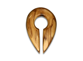 Olive Wood Keyhole Weight
