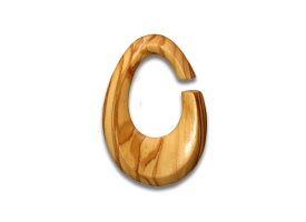 Olive Wood Oval Weight