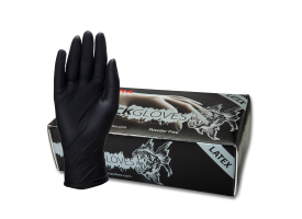 Piranha Black Latex Gloves