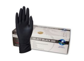 300 Select Black Latex Gloves