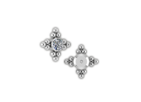 Titanium Int. Thr. Jewelled Cluster - Style 6